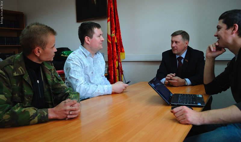 Meeting with the leader of communist party in Novosibirsk