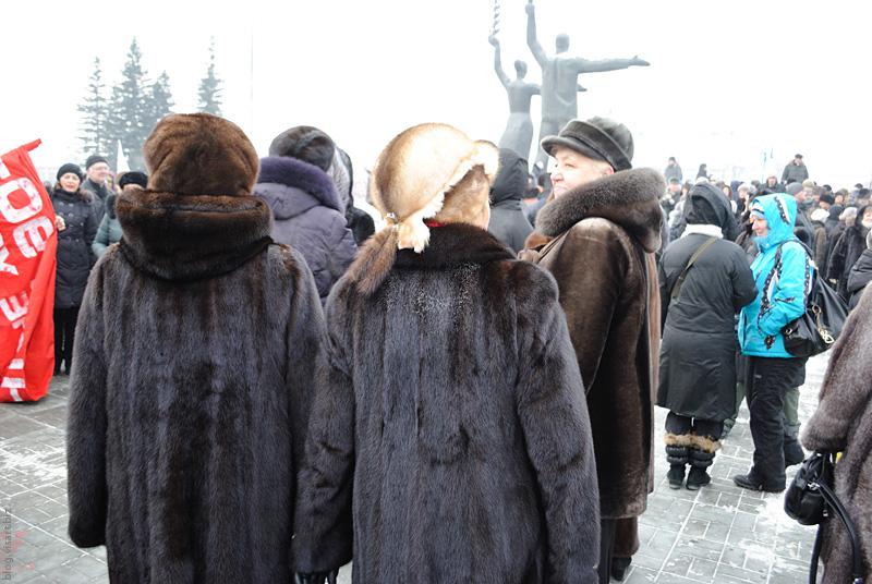 Manifestation of mink  fur coats