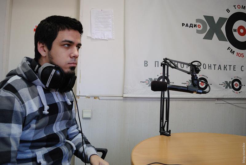 We on radio Echo in Tomsk