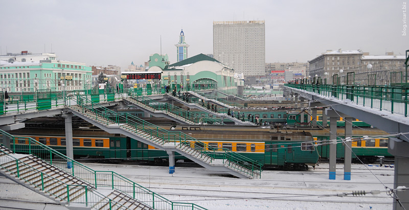Garin-mihailovsky central rail station in Novosibirsk