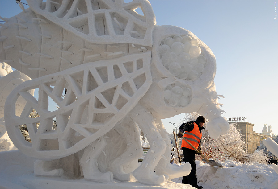 Конкурс снежной бабы