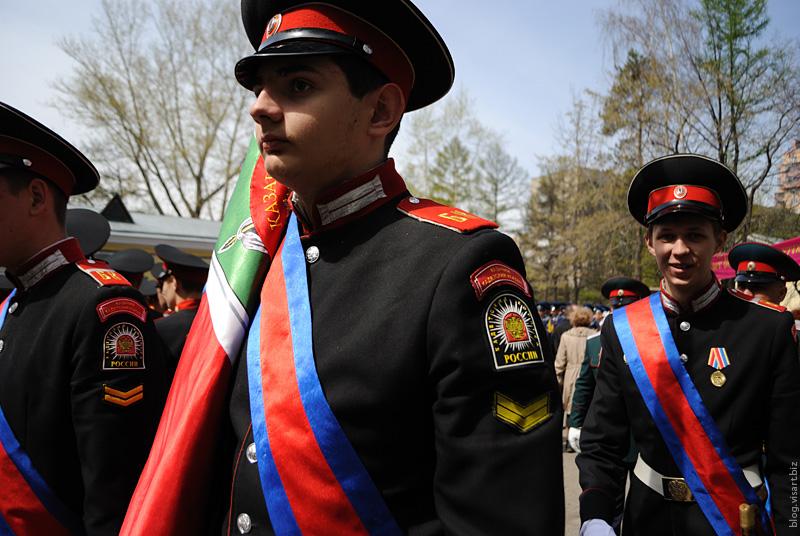 Парад Сибирского кадетского корпуса