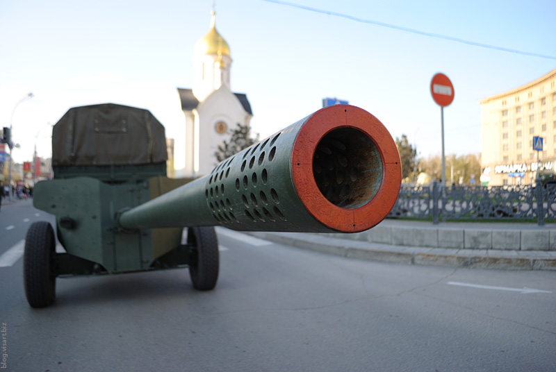 The artillery on the city streets