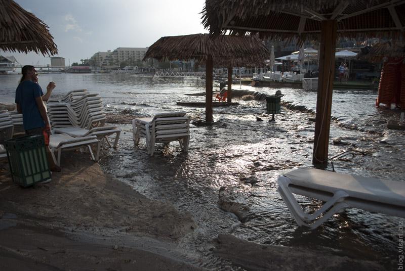 Eilat in rain