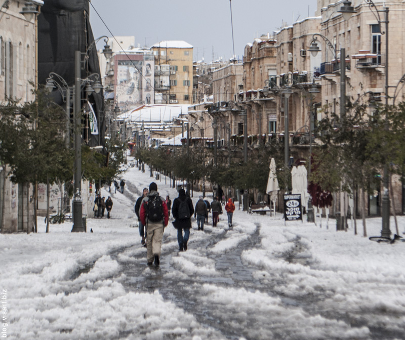 Snow emergence in Jerusalem