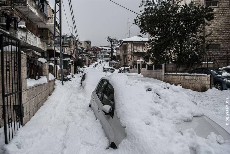Иерусалим в осаде. Jerusalem in snow. סופה בירושלים