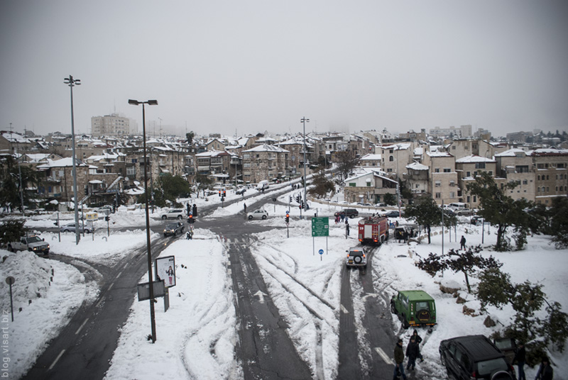 jerusalem neighborhoods Nahlaot under the snow