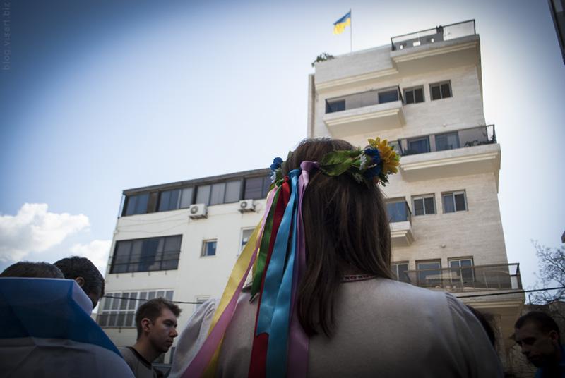 Пикетирование посольства Украины в Израиле