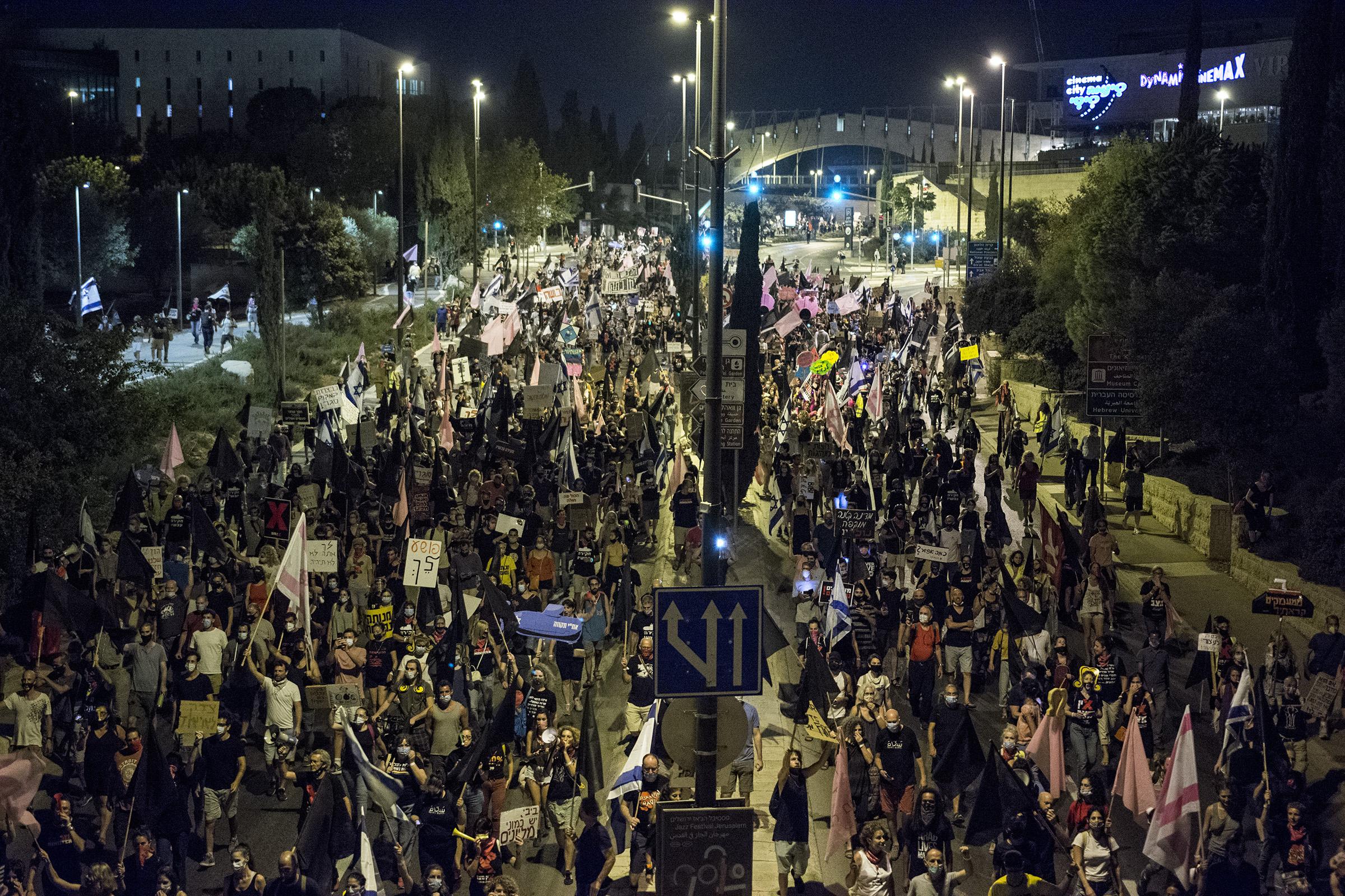 Протесты против Нетанияу 12 сентября