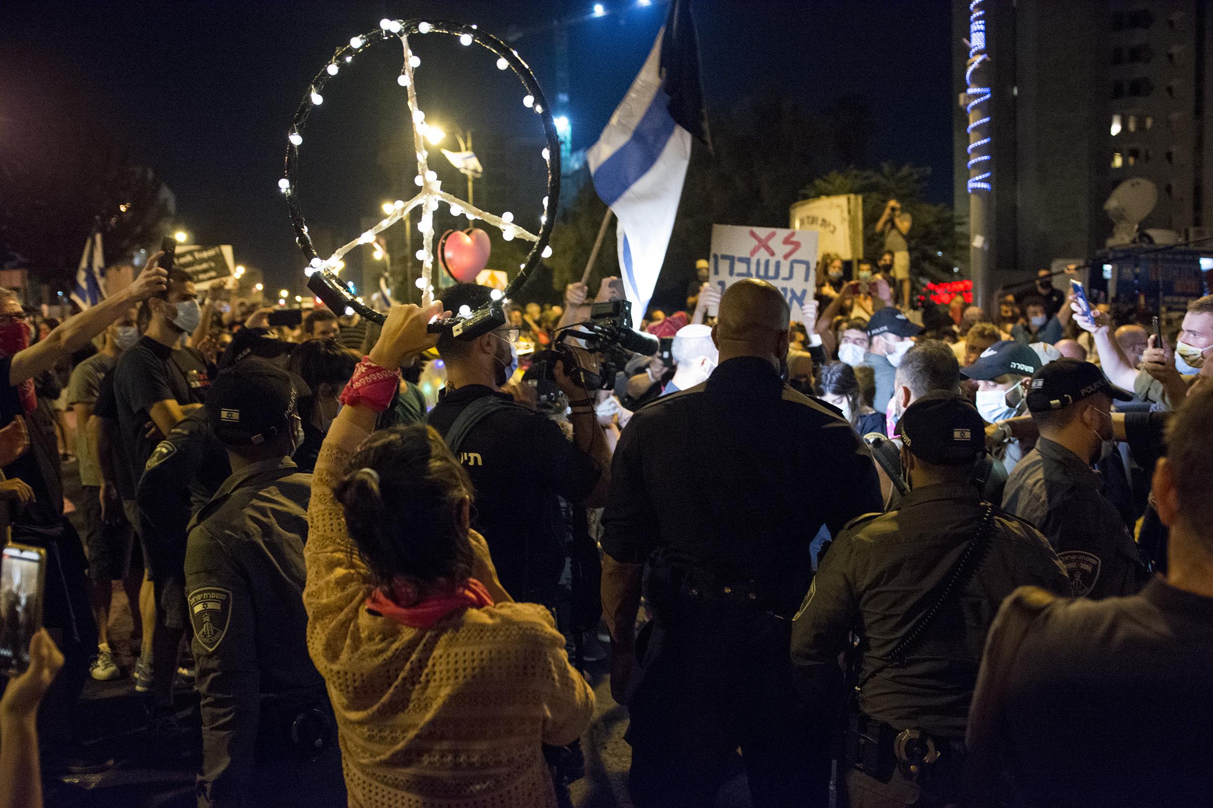 Manifestation against ban on manifestations in Israel