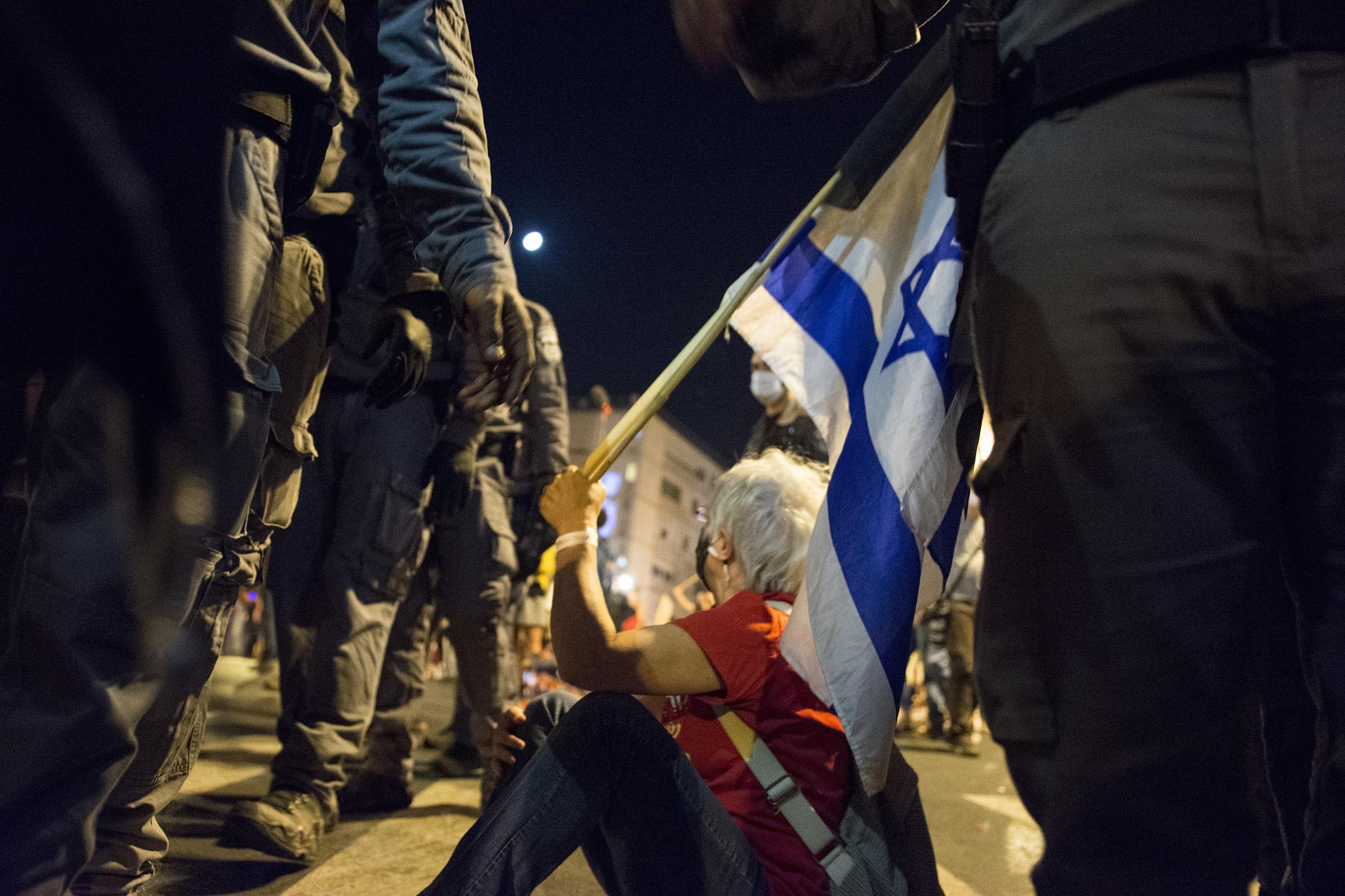 Митинг против запреты митингов в Израиле
